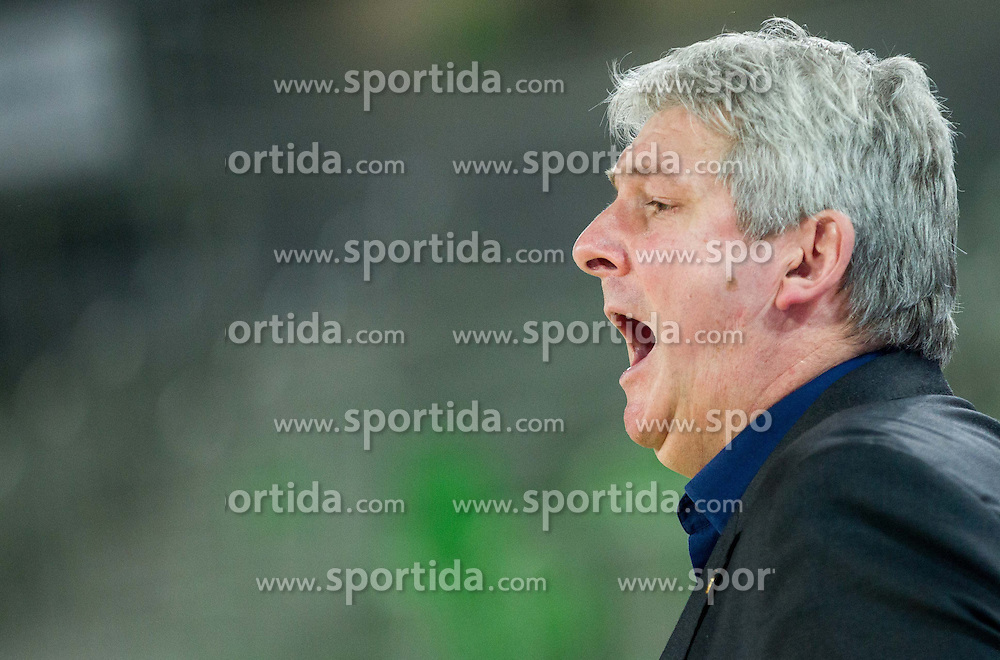 Ales Pipan, head coach of Union Olimpija during basketball match between KK Union Olimpija and KK Zadar in 13th Round of ABA League 2013/14, on December 22, 2013 in Arena Stozice, Ljubljana, Slovenia.  Photo by Vid Ponikvar / Sportida