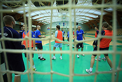 Players Matjaz Mlakar, Dragan Gajic, Goran Kozomara, Sebastjan Skube, Vid Kavticnik, Klemen Cehte and David Miklavcic at practice of Slovenian handball men national team before going to Israel, on October 27, 2008 in Lasko, Slovenia. (Photo by Vid Ponikvar / Sportal Images)