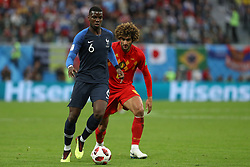 July 10, 2018 - SãO Petersburgo, Rússia - SÃO PETERSBURGO, MO - 10.07.2018: FRANÇA X BÉLGICA - Paul Pogba and Marouane Fellaini during the match between France and Belgium valid for the semifinal of the 2018 World Cup, held at the Krestovsky Stadium in St Petersburg, Russia. (Credit Image: © Ricardo Moreira/Fotoarena via ZUMA Press)