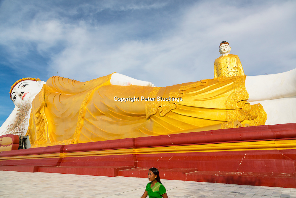 The giant Buddhas of Leykyun Setkyar, near Mandalay, Myanmar