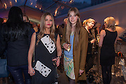 GEMMA GREGORY; EDIE CAMPBELL, The Vogue Festival 2012 in association with Vertu- cocktail party. Royal Geographical Society. Kensington Gore. London. SW7. 20 April 2012.