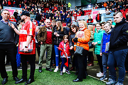 Former Bristol City players and their families are welcomed onto pitchside as part of the clubs 125th Anniversary Celebrations - Rogan/JMP - 07/03/2020 - Ashton Gate Stadium - Bristol, England - Bristol City v Fulham - Sky Bet Championship.