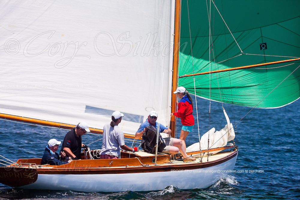 Surprise, S Class, sailing in the Robert H. Tiedemann Classic Yachting Weekend race 1.