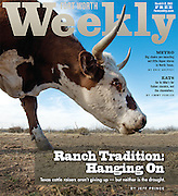 Cover story on the drought's impact on Texas ranchers.