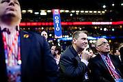 Michigan delegates listen to Condoleeza Rice at the Republican National Convention in Tampa, Florida, August 29, 2012.