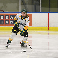 in action during the Women's Hockey home game on February 10 at Co-operators arena. Credit: Arthur Ward/Arthur Images