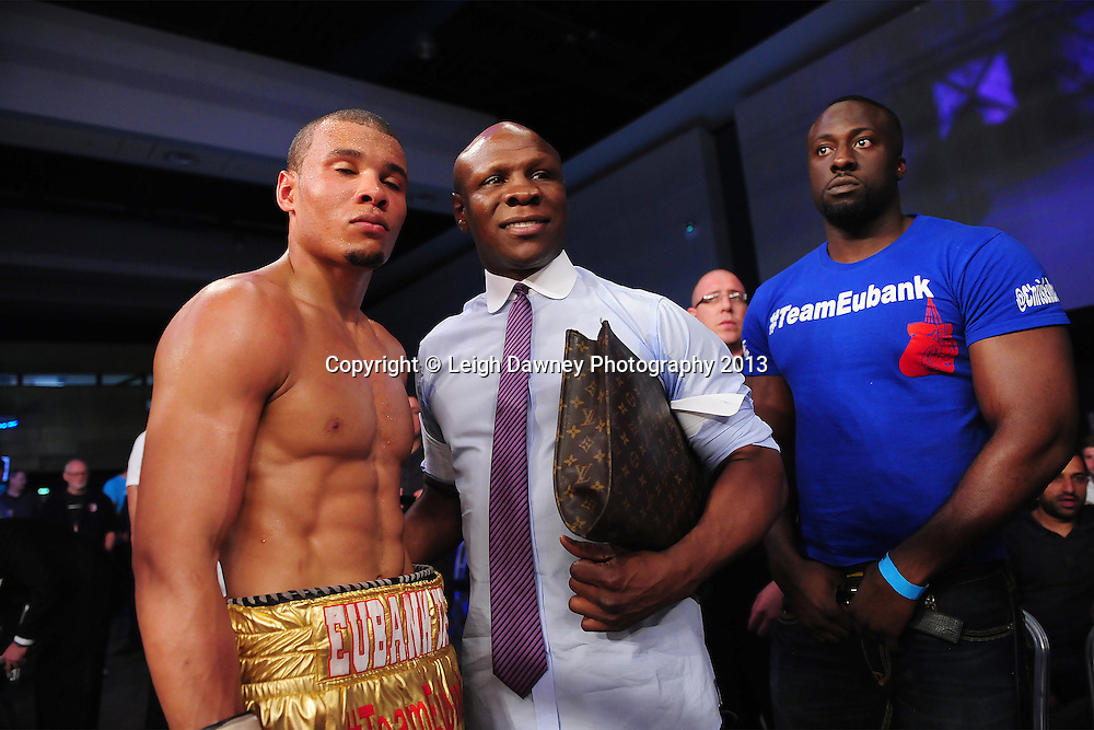 Chris Eubank Jnr pictured with his Father Chris Eubank . A Middleweight contest at Glow, Bluewater, Dartford, Kent, UK on 8th June 2013. Promoter: Hennessy Sports. Mandatory Credit: © Leigh Dawney