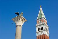 Italie, Venetie, Venise, campanile San Marco // Italy, Veneto, Venise, San Marco campanile