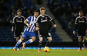 Brentford midfielder Ryan Woods during the Sky Bet Championship match between Brighton and Hove Albion and Brentford at the American Express Community Stadium, Brighton and Hove, England on 5 February 2016.