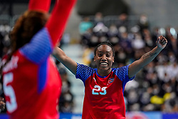 05-12-2019 JAP: Cuba - Slovenia, Kumamoto<br /> Fourth match groep A at 24th IHF Women's Handball World Championship. Slovenia win 39 - 26 of Cuba / Eyatne Rizo Gomez #23 of Cuba