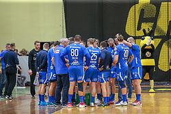 RK Celje players, RK Gorenje Velenje and RK Celje Pivovarna Lasko in Eighth Final Round of Slovenian Cup 2018/19, on February 02, 2019 in Rdeca dvorana, Velenje, Slovenia. Photo by Jurij Vodušek / Sportida