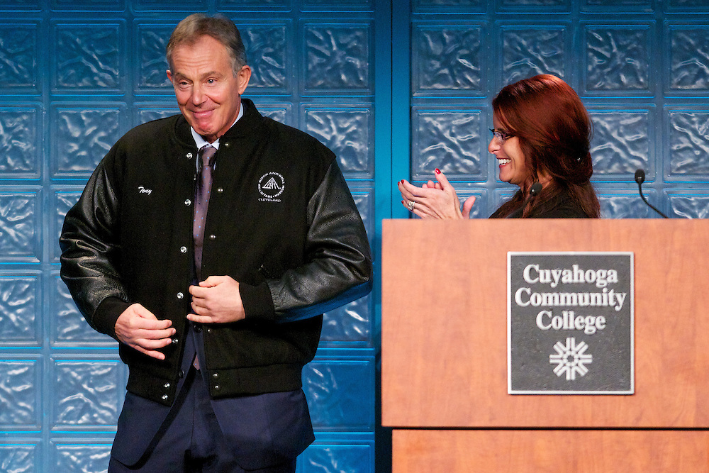 Tri-C Foundation annual luncheon featchuring Tony Blair at the Renessance Hotel Grand Ball Room on Thursday, Oct. 5, 2011.