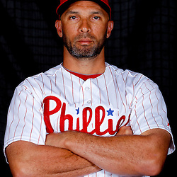 February 22, 2011; Clearwater, FL, USA; Philadelphia Phillies left fielder Raul Ibanez (29) poses during photo day at Bright House Networks Field. Mandatory Credit: Derick E. Hingle