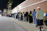 Black Friday, Nov. 24, 2006 at Target in Brandon, Florida.  An estimated 2,500 people waited in line for the 6 a.m. store opening.  The first in line arrived at 7 p.m. the night before.  The line pictured stretched for more than a city block around a shopping center.