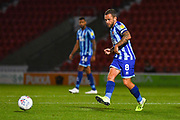 Blackpool midfielder Jay Spearing (8) passes the ball during the EFL Sky Bet League 1 match between Doncaster Rovers and Blackpool at the Keepmoat Stadium, Doncaster, England on 17 September 2019.