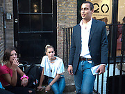 "EMMA CHITTY; ALICE DELLAL; ALEX DELLAL, Video artist Yi Zhou  first solo show ""I am your Simulacrum"".Exhibition opening at 20 Hoxton Square Projects. Hoxton Sq. London. 1 September 2010.  -DO NOT ARCHIVE-© Copyright Photograph by Dafydd Jones. 248 Clapham Rd. London SW9 0PZ. Tel 0207 820 0771. www.dafjones.com."