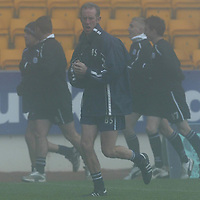 St Johnstone Training...17.10.03<br />Billy Stark training with his squad this morning in a fog bound McDiarmid Park<br />See story by Gordon Bannerman Tel: 01738 553978<br />Picture by Graeme Hart.<br />Copyright Perthshire Picture Agency<br />Tel: 01738 623350  Mobile: 07990 594431