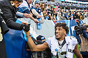 NASHVILLE, TN - DECEMBER 22:  Michael Thomas #13 of the New Orleans Saints greets fans on his way off the field after a game against the Tennessee Titans at Nissan Stadium on December 22, 2019 in Nashville, Tennessee. The Saints defeated the Titans 38-28.  (Photo by Wesley Hitt/Getty Images) *** Local Caption *** Michael Thomas