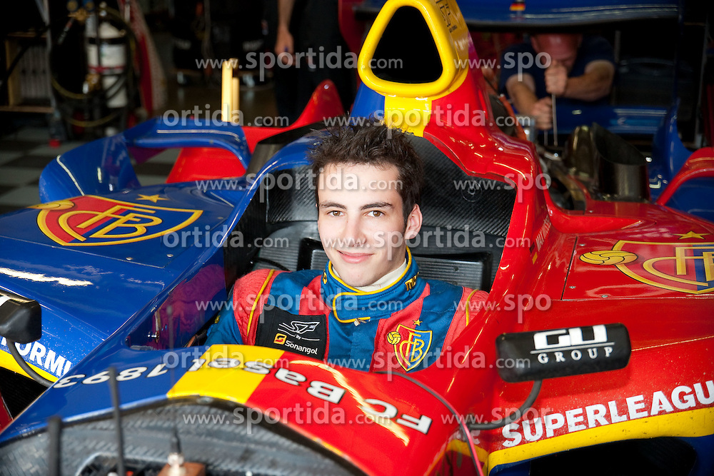 26.06.2010, Nürburgring, Nürburg, GER, Superleague Formula, im Bild von links Max Wissel, Team FC Basel, EXPA Pictures © 2010, PhotoCredit: EXPA/ A. Neis / SPORTIDA PHOTO AGENCY