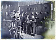 early 1900s electricity generating factory France