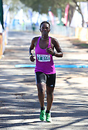 MOSSEL BAY, SOUTH AFRICA - SEPTEMBER 23: Olivia Chitale finishes second during the PetroSA Marathon hosted by Athletics South Western Districts (SWD) on September 23, 2017 in Mossel Bay, South Africa. (Photo by Roger Sedres/ImageSA)