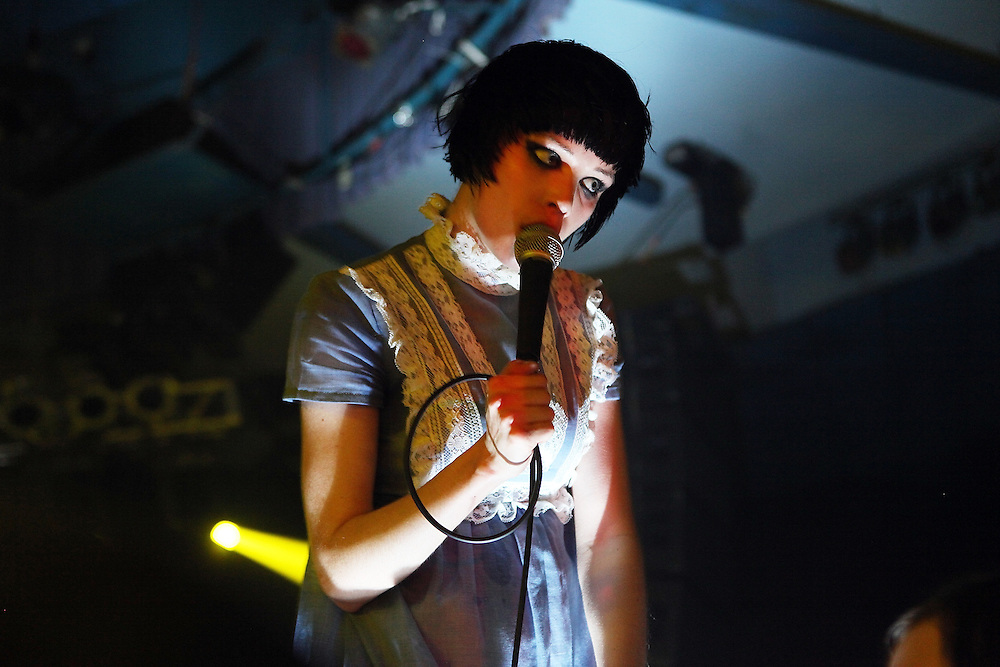 MONTICELLO, NY - SEPTEMBER 13:  Alice Glass of Crystal Castles performs onstage during the ATP New York 2009 festival at the Kutsheris Country Club on September 13, 2009 in Monticello, New York.  (Photo by Roger Kisby/Getty Images)