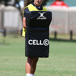 DURBAN, SOUTH AFRICA, Friday 15, January 2016 - Patrick Lambie during The Cell C Sharks Pre Season training Friday 145h January 2016,for the 2016 Super Rugby Season at Growthpoint Kings Park in Durban, South Africa. (Photo by Steve Haag)<br /> images for social media must have consent from Steve Haag