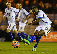 Nathan Cameron of Bury (right) during the The FA Cup match at Kenilworth Road, Luton<br /> Picture by David Horn/Focus Images Ltd +44 7545 970036<br /> 16/12/2014