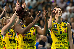 18-05-2019 GER: CEV CL Super Finals Igor Gorgonzola Novara - Imoco Volley Conegliano, Berlin<br /> Igor Gorgonzola Novara take women's title!Novara win 3-1 /  .c13/, Mariam Fatime Sylla #17 of Imoco Volley Conegliano, Robin de Kruijf #5 of Imoco Volley Conegliano