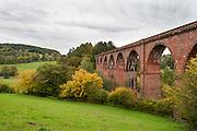 Himbächel-Viadukt, Eisenbahnbrücke, Odenwald, Naturpark Bergstraße-Odenwald, Hessen, Deutschland | Himbächel railway bridge, Odenwald, Hessen, Germany