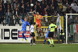 November 3, 2018 - Vercelli, Italy - Italian Goalkeeper Tommaso Nobile from Pro Vercelli team playing during Saturday evening's match against Novara Calcio valid for the 10th day of the Italian Lega Pro championship  (Credit Image: © Andrea Diodato/NurPhoto via ZUMA Press)