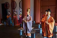 Japon, île de Honshu, Kansai, Osaka, le musée de l'Histoire d'Osaka, reconstitution de la Cour Impériale de l'époque Nara // Japon, Honshu, Kansai, Osaka, History museum of Osaka, court of Nara Period