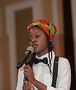 Mtisunge Isabel Kamlongera, an Ohio University student, performs Shania Twain's Man! I Feel Like a Woman at the International Women's Day Festival on March 13, 2016. Photo by Emily Matthews