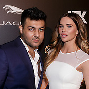 NLD/Amsterdam/20141108 - Inloop JFK Greatest Man of the Year 2014 award, Sylvia Geersen en modelagent Samim Koestani