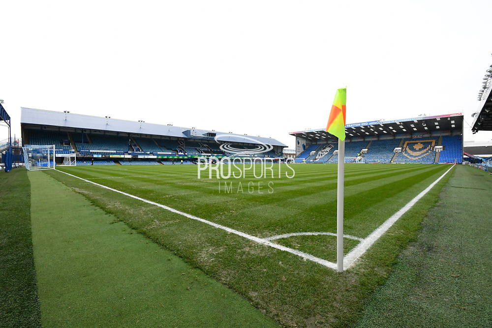 General view inside Fratton Park stadium ahead of the The FA Cup match between Portsmouth and Barnsley at Fratton Park, Portsmouth, England on 25 January 2020.