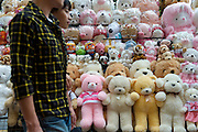 Stuffed Animals on Street - Seoul - South Korea