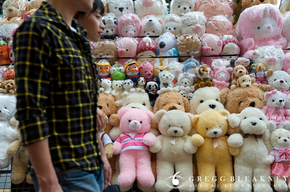 Stuffed Animals on Street - Seoul - South Korea