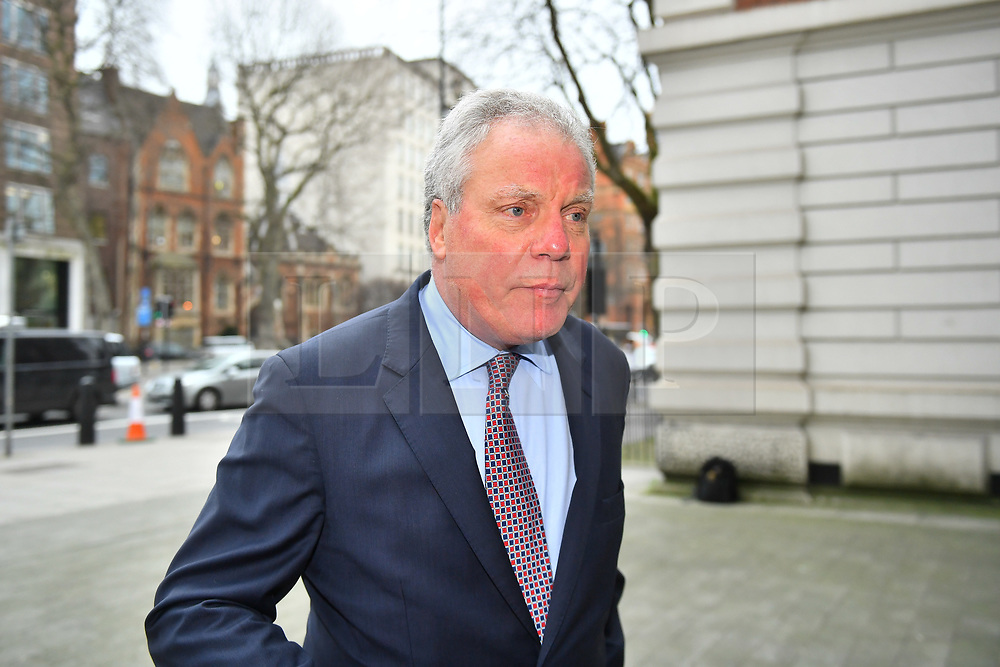 © Licensed to London News Pictures. 14/03/2017. London, UK. GORDON Ramsay's father-in-law CHRIS HUTCHESON arrives at Westminster Magistrates Court in London where he is charged with charged with hacking in to the celebrity chefs computer. Hutcheson, 68, is accused of conspiracy to access Ramsay's PC after a fall-out when the TV cook fired him as chief executive of his business. Photo credit: Ben Cawthra/LNP