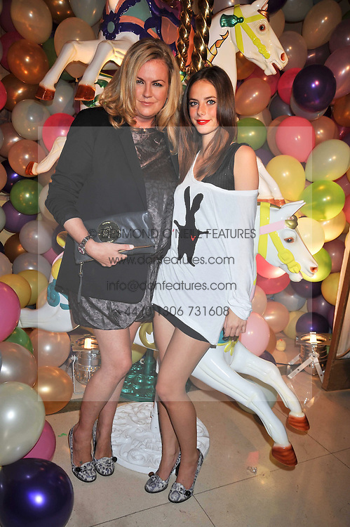 Left to right, EMMA HILL Creative Director at Mulberry and actress KAYA SCODELARIO at a party hosted by Mulberry during London fashion Week 2009 at Claridge's Hotel, Brook Street, London on 20th September 2009.