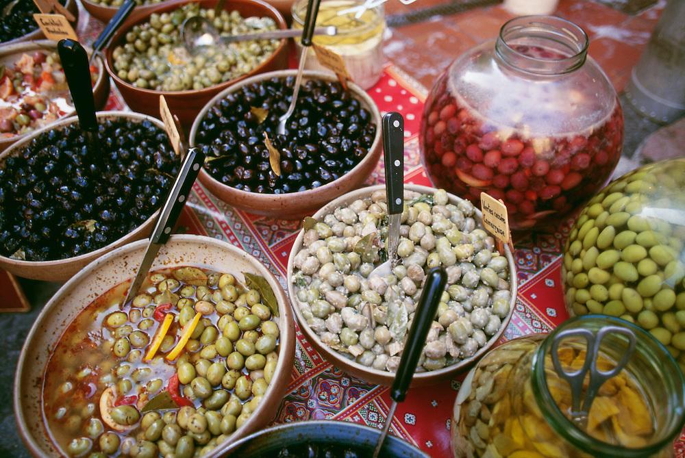 France, Provence, St.Tropez, Olives for sale