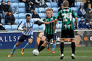 Coventry City Striker Jacob Murphy during the Sky Bet League 1 match between Coventry City and Rochdale at the Ricoh Arena, Coventry, England on 5 March 2016. Photo by Chris Wynne.