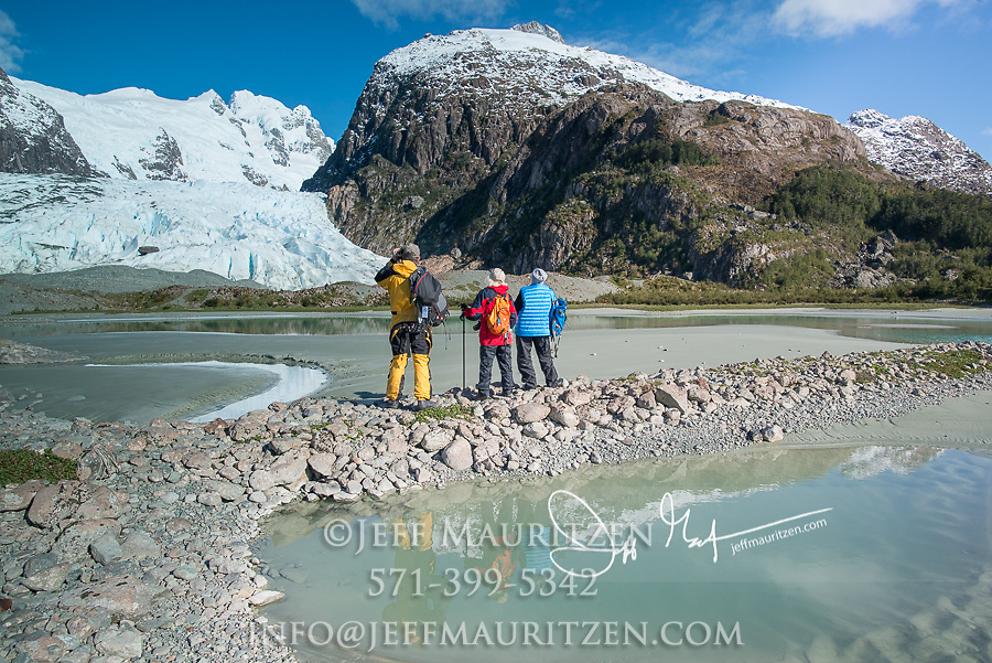 Bernal glacier located in Alacalufes National Reserve, Southern Chilean Fjords.