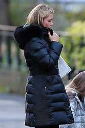 Pregnant model Abbey Clancy, husband Peter Crouch and their daughter Sophia out and about in London, UK. 06/01/2015<br />BYLINE MUST READ : JAMESY/GOTCHA IMAGES<br /><br />Copyright by © Gotcha Images Ltd. All rights reserved.<br />Usage of this image is conditional upon the acceptance <br />of Gotcha Images Ltd, terms and conditions available at<br />www.gotchaimages.com