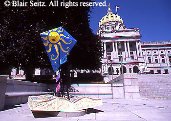 PA Capitol Complex, Harrisburg, Sculpture Art Displays