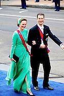 AMSTERDAM - De inhuldiging van Koning Willem Alexander. Met op de foto Erfprinses Sophie van Liechtenstein en haar man, erfprins Alois. FOTO LEVIN DEN BOER - PERSFOTO.NU