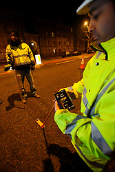 UK ENGLAND LONDON 15NOV10 - TfL engineers undertake a baseline light measurements on a potential LED test site on Blackfriars Road, Southwark, London...jre/Photo by Jiri Rezac..© Jiri Rezac 2010