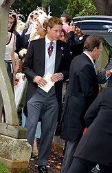 PRINCE WILLIAM at the wedding of Tom Parker Bowles to Sara Buys at St.Nicholas Church, Rotherfield Greys, Oxfordshire on 10th September 2005.<br />