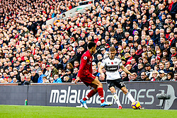 Maxime Le Marchand of Fulham takes on Trent Alexander-Arnold of Liverpool - Mandatory by-line: Robbie Stephenson/JMP - 11/11/2018 - FOOTBALL - Anfield - Liverpool, England - Liverpool v Fulham - Premier League