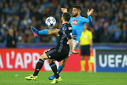 March 7, 2017 - Naples, Italy - Napoli's midfielder from Italy Lorenzo Insigne controls the ball during the UEFA Champions League football match SSC Napoli vs Real Madrid on March 7, 2017 at the San Paolo stadium in Naples. (Credit Image: © Matteo Ciambelli/NurPhoto via ZUMA Press)