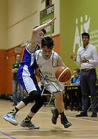 21 Aug 2016:  Kevyn Burke, right, Moycullen, in action against Thomas Lynch, Malahide.  Boys U16 Basketball final, Malahide, Dublin v Moycullen, Galway. 2016 Community Games National Festival 2016.  Athlone Institute of Technology, Athlone, Co. Westmeath. Picture: Caroline Quinn